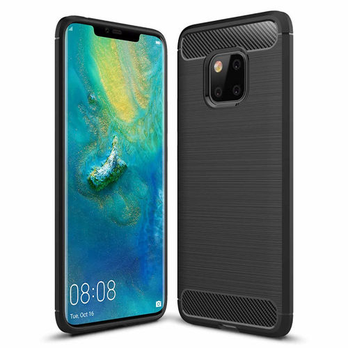 Flexi Carbon Fibre Tough Case for Huawei Mate 20 Pro - Brushed Black